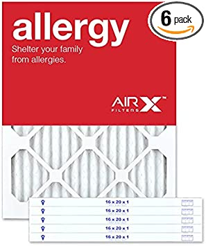 AIRx ALLERGY 16x20x1 MERV 11 Pleated Air Filter
