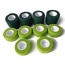 "Self Adherent Cohesive Bandage Wrap Vet Tape Finger Protector (10 Pack) 4 Rolls 5cm(2"") & 6 Rollsx2.5cm(1"") x4.5m"