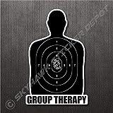 Group Therapy Gun Target Sticker Vinyl Decal Car Truck Van Bumper Sticker, Window Sticker, Macbook Sticker