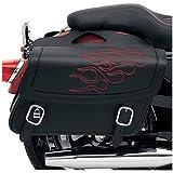 Saddlemen Highwayman Tattoo Sports Saddlebag - Dark Red / Medium