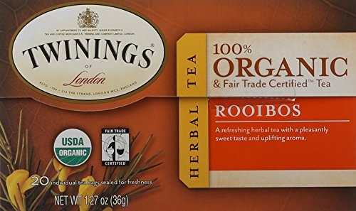 Twinings of London Organic and Fair Trade Certified Rooibos Tea Bags, 20 - Rooibos Tea Twining