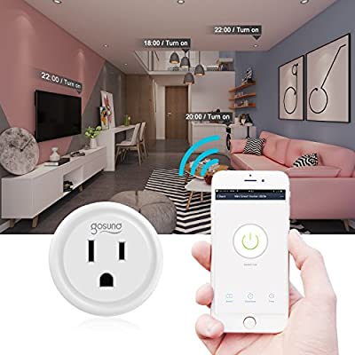 Smart plug, Gosund Mini Wifi Outlet Compatible with Alexa, Google Home & IFTTT, No Hub Required, Remote Control your home appliances from Anywhere, ETL Certified (4 piece)