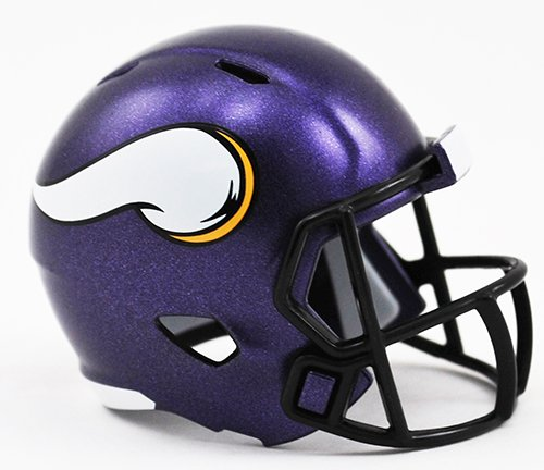 Minnesota Vikings NFL Riddell Speed Pocket PRO Micro/Pocket-Size/Mini Football Helmet