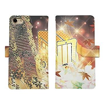 4d76f115b9 Carine iPhone XS Max 手帳型 スマホケース スマホカバー di510(F) キラキラ 牛車 紅葉 アイフォン