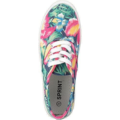 brandsseller - Zapatos de cordones para mujer Grün/Pink