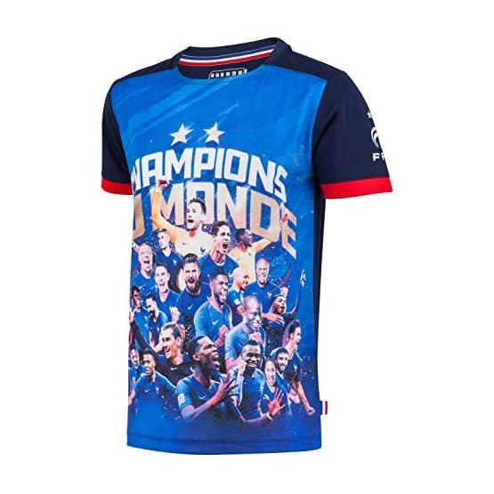 Equipe de FRANCE de football Maillot FFF - Champion du Monde - Collection Officielle Taille Enfant garçon