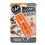 Cap Zappa Beer Bottle Opener Cap Launcher Shooter By Spinning Hat Fire Cap Shoot Over 5 Meters- Color Random