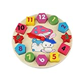 Kids Wooden Toys Digital Geometry Clock Educational Development Toys