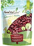 Food to Live Certified Organic Dried Cranberries (Non-GMO, Unsulfured, Bulk) (1 Pound)