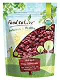 Food to Live Certified Organic Dried Cranberries (Non-GMO, Kosher, Unsulfured, Bulk) (8 Ounces)