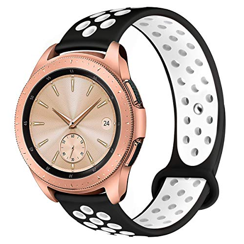 Compatible for Samsung Galaxy Watch 42mm Band/Galaxy Watch Active 40mm Bands,YiJYi 38mm Silicone Strap Sports Replacement Wristband for Women Men ()