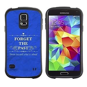 LASTONE PHONE CASE / Suave Silicona Caso Carcasa de Caucho Funda para Samsung Galaxy S5 SM-G900 / BIBLE Forget The Past