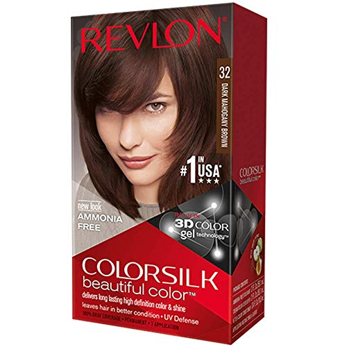 - Revlon ColorSilk Hair Color, [32] Dark Mahogany Brown 1 ea