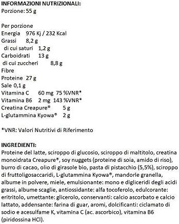 55 Protein Bar Cocco Ricopera Cioccolato 55 Gr