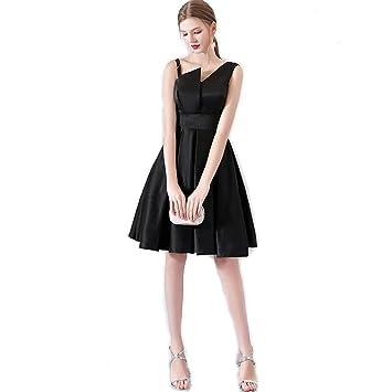 Mobeka Vestido de Fiesta Corto sin Hombros Vestido de Fiesta Vintage sin Forma Irregular (Tamaño