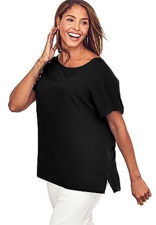 76d94b39dcd Jessica London Women s Plus Size Refined Tee at Amazon Women s ...