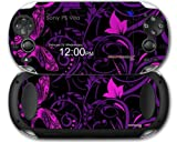 Twisted Garden Purple and Hot Pink - Decal Style Skin fits Sony PS Vita