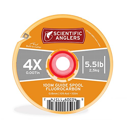 - Scientific Anglers Premium Fluorocarbon Interlocking Tippet Guide Spool, Mixed Color, 3X 100 m