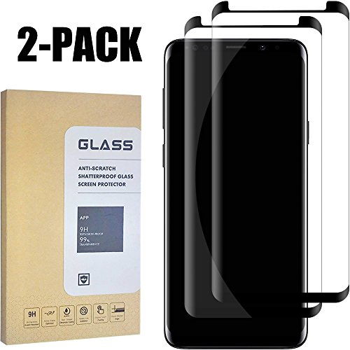 Galaxy S9 Plus Clear Screen Protector [3D Curved Edge][Scratch resistance][Case Friendly/96% coverage][Bubble-Free ]9H Hardness Tempered Glass Screen Protector for Samsung Galaxy S9 Plus [2-Pack] from Sliiq