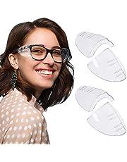 RMENOOR 2 paar brillen, zijbescherming, anti-uv-veiligheidsbril, zijbescherming, transparante zijbescherming, veiligheidsbril voor kleine, middelgrote en grote brillen