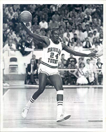 Historic Images - 1987 Vintage Press Photo BYU Cougars Basketball Jeff Chatman - snb15505 Cougar Byu Cougars Photograph