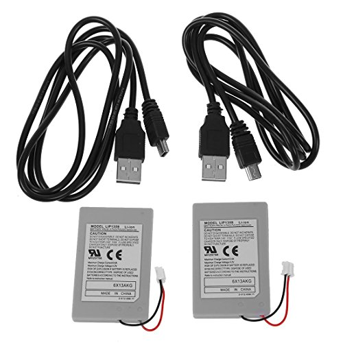 - Battery - TOOGOO(R) New 2X Replacement Battery Pack For SONY PS3 Controller + USB Charger Cable