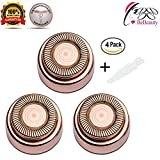 BeBeauty Facial Hair Remover Replacement Heads Rose Gold Electric or Battery Flawless Hair Removal Good Finishing Well Touch for Lip/Chin/Cheek & Sideburns As Seen On TV 18K Gold-Plated Blades 3 Count