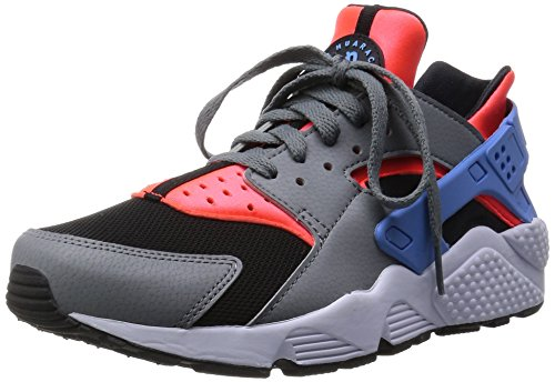 Nike Men's Air Huarache Sneakers, Green, 7.5 Red / Blue / Grey (Brght Crmsn / Unvrsty Bl-cl Gry)