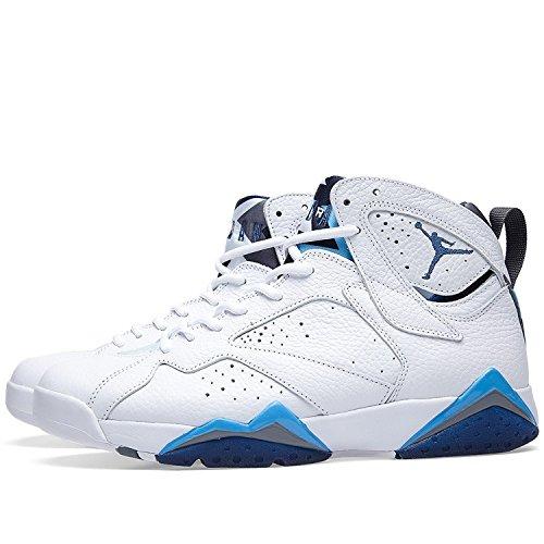 Retro NIKE Air 7 flnt Bl Basketball Shoes 's Frnch unvrsity Men Bl Jordan Wht wqqgrXBS