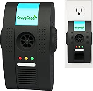 Cravegreens Pest Control Ultrasonic Repellent - Electronic Plug -In Repeller for Insects- Best Repellent for, Cockroach, Rodents, Flies, Roaches, Ants, Spiders, Fleas, Mice - Black Color