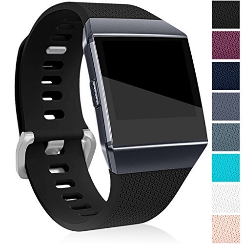 Maledan Replacement Bands for Fitbit Ionic Smart Watch, Black, Large