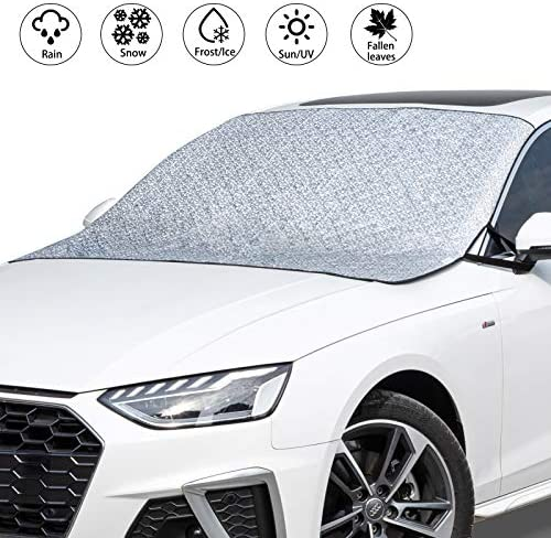 VOHQPEI Car Windshield Hail Cover, Windshield Cover for Ice and Snow with 4 Layers Protection, Large Car Snow Covers Fits Most Cars and SUV
