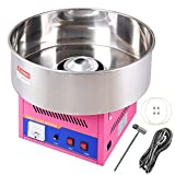 20'' Pink Tabletop Commercial Cotton Candy Machine GEN3 Electric Floss Maker Carnival