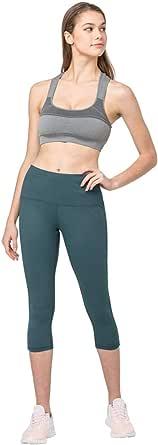 Clasfit Camila, Capri, Compression Leggings, High Waist Tummy Control, 4 Way Stretch, Hidden Pocket, Yoga and Everyday Wear
