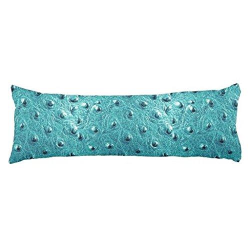 Ostrich Aquamarine Faux Leather 2015 Color Trends Body Pillo