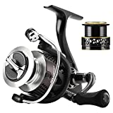 Skysper Spinning Reels 10+1BB 6.2: 1 Gear Ratio Left / Right Interchangeable Light Weight Ultra Smooth Powerful Fishing Spinning Reels with Spare Spool