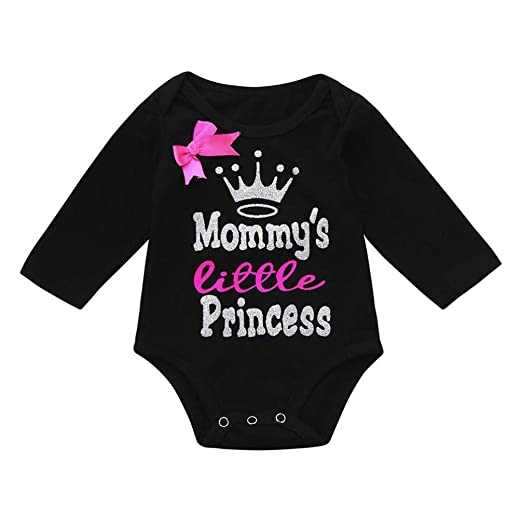 8f97d80c388c 0-18M Newborn Baby Girls Princess Romper Letter Print Bow Long Sleeve Warm  Jumpsuit Bodysuit