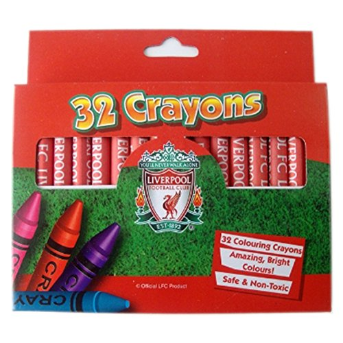 Official LIVERPOOL FC 32 Crayons / 32 FARBE Wachsmalstift gesetzt