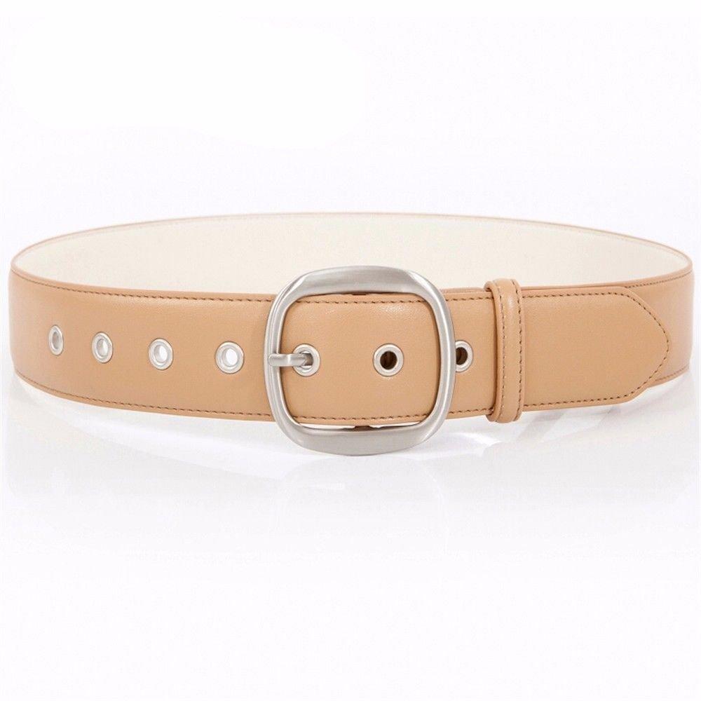 NSSBZZ Birthday gifts Female. New pattern。 Simple. Belt。 Pin buckle. Decoration. It's wide. Waist. Belt. Woollen overcoat。 Down Jackets。 Decoration. The waist. With. Dress。 Belt,Khaki
