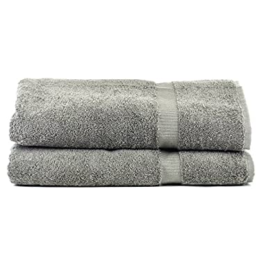 Luxury Hotel & Spa Towel 100% Genuine Turkish Cotton … (Bath Sheet - Set of 2, Gray)