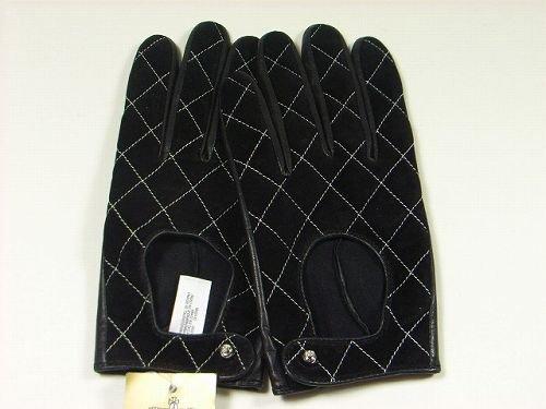 ライオネルグリーンストリート一時停止恐怖JUICY COUTUREジューシークチュールキルティングレザー手袋(ブラック)【並行輸入品】 [ウェア&シューズ]