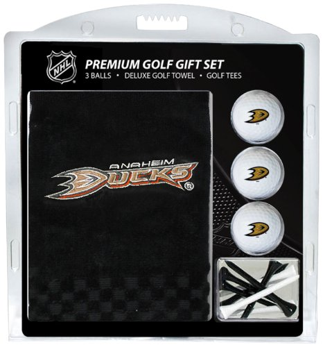 Team Golf NHL Anaheim Ducks Gift Set Embroidered Golf Towel, 3 Golf Balls, and 14 Golf Tees 2-3/4
