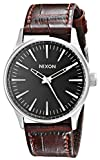 Nixon Men's A3771887 Sentry 38 Stainless Steel Watch With Leather Band