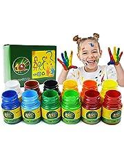 iMustech 12 Colors Washable Finger Paints Kid's Paint Art Supplies