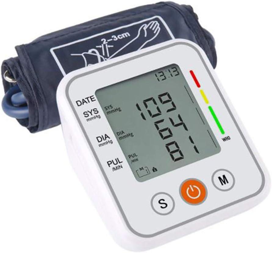 Wiivilik Monitor de la presión Arterial Monitor portátil automático de presión Superior del Brazo Arterial tonómetro Brazo esfigmomanómetro tensiómetro BP medidor de frecuencia Cardiaca