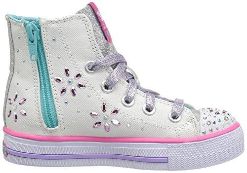 Blanco Zapatillas Chica Lona Skechers De wmlt dIwf4g