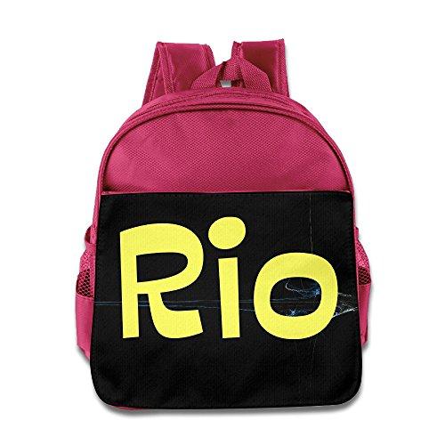 Olympic Games Rio 2016 De Janeiro Brazil Kids School Backpack Bag Pink