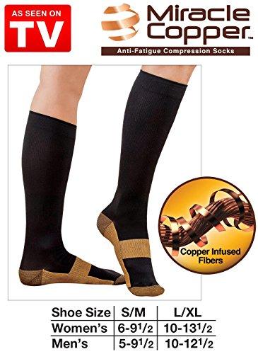 Miracle Socks Anti-fatigue Copper Socks L/xl Size