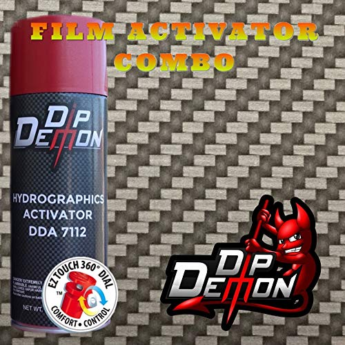 Hydrographic Film Carbon Fiber Combo Kit Carbon Fiber Weave Black and Clear Transparent Background Twill Hydro Graphic Water Transfer Film Activator Hydro Dipping Dip Demon