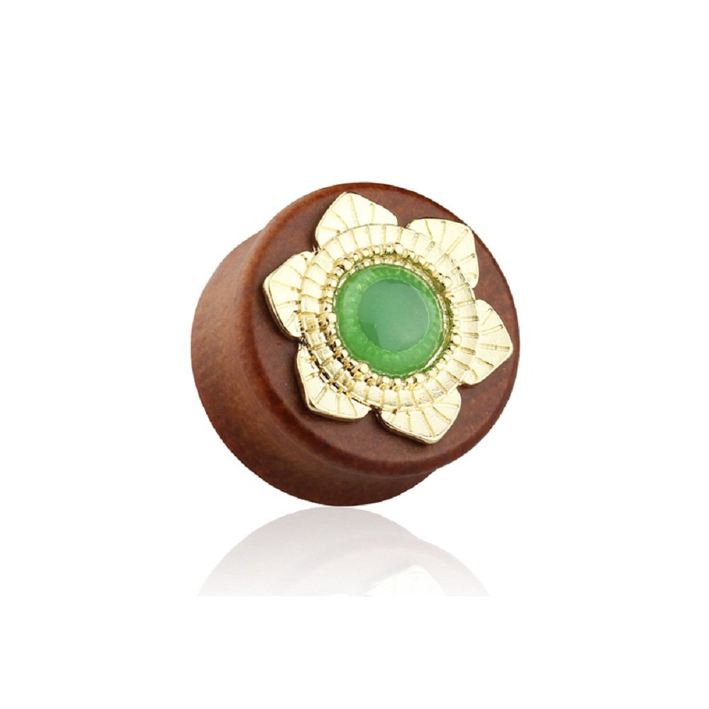 Sold by Pair Freedom Fashion Acrylic Jade Centered Solid Sono Saddle Plug